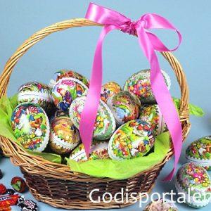 Påskkorg med ägg Godisportalen