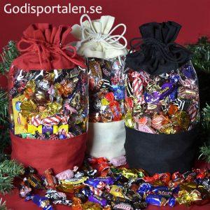 julsäckar med fönster Godisportalen